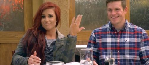 """Screen Cap from """"Teen Mom 2"""" when Chelsea got engaged"""