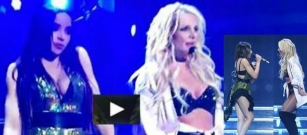 #BritneySpears & #Tinashe sorprendono sul palco del #BritneyPieceOfMe. #BlastingNews