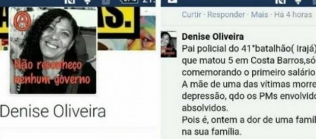 Denise foi afastada do cargo de professora no Rio (Foto: Reprodução)