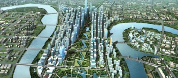 Eco City Tianjin, China. Terminará su construcción en 2020
