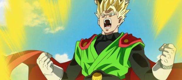 Gohan en el episodio 75 entrenando con Goku