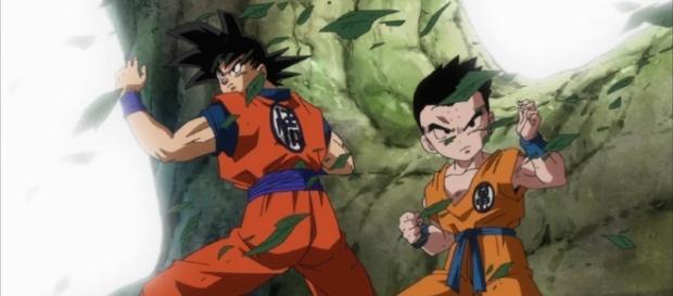 Goku y Krilin en el episodio 75