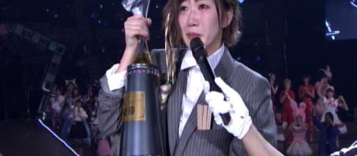 Miku Tanabe as AKB48 Janken Taikai champion, and new face of the group / Photo from '48 Family Indonesia' - fam48inablog.blogspot.com