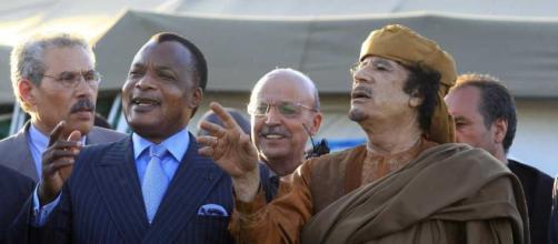 Sassou, Président du Congo, avant la disparition du Président Kadhafi