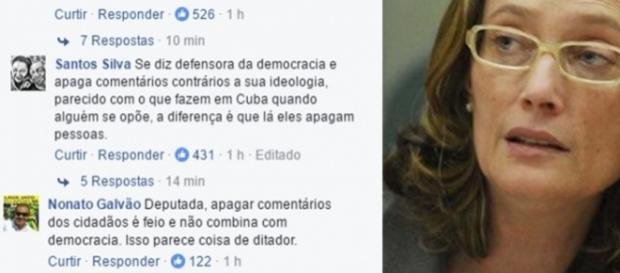 Depois de receber críticas e supostamente apagá-las, a página de Maria do Rosário recebeu mais críticas ainda
