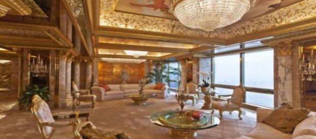 Donald Trump's penthouse apartment in Trump Tower FAIR USE dailymail.co.uk Creative Commons