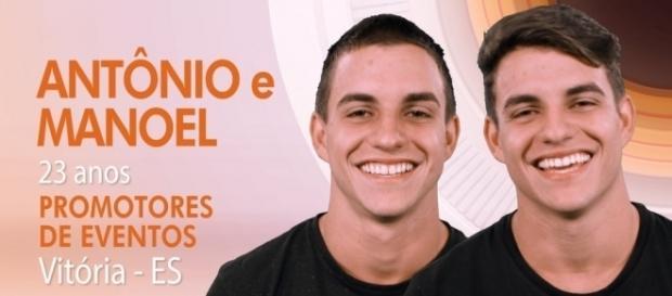 Manoel e Antônio são de Vitória, Espírito Santo