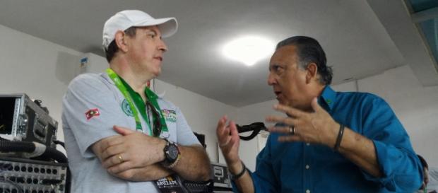 Rafael Henzel e Galvão Bueno dividiram a transmissão na Globo