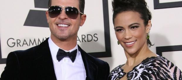 Robin Thicke with ex-wife Paula Patton (Image via: mirror.co.uk)