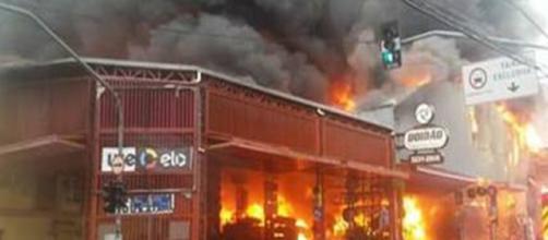 incendio campinas destrói lojas no centro da cidade