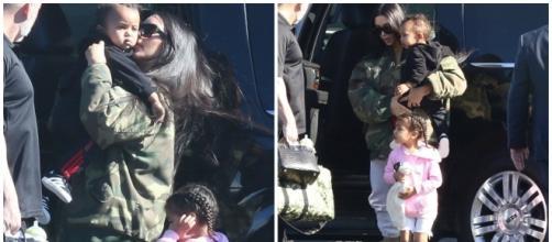 Kim Kardashian carinhosa com Saint West