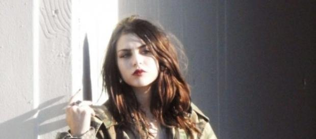 Frances Bean Cobain lors d'un shooting photo pour Marc Jacobs à Los Angeles (Marc Jacobs Shoot Campaignin in LA)