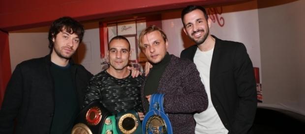 Il Produttore Antonio Giampaolo, Emiliano Marsili, Giampietro Preziosa e Alessio Di Cosimo