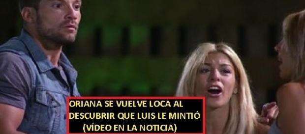 Imágenes del terrible ataque de locura de Oriana al descubrir la verdad sobre Luis y Melina