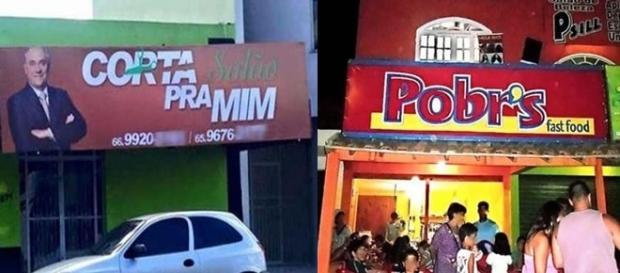 Nomes de comércios brasileiros criativos