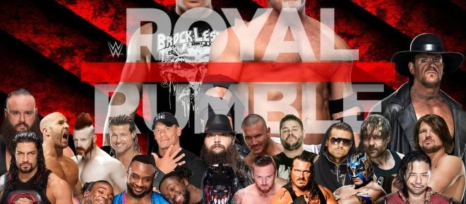 THE WWE ROYAL RUMBLE, THIS SUNDAY.
