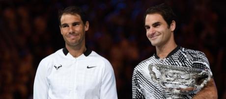 Rafa et Roger après avoir marqué l'histoire.