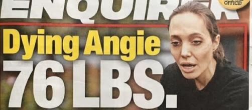 Angelina Jolie ocupa capa de tabloide com aparência debilitada