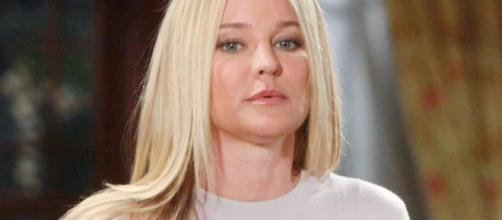 Young and the Restless screen grab -- Sharon Case