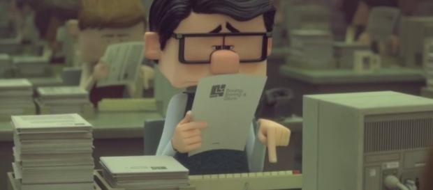 """Paul, é o personagem do curta """"Inner Workings"""" da Disney, um burocrata que leva uma vida maçante."""