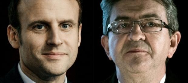 Emmanuel Macron et Jean-Luc Mélenchon