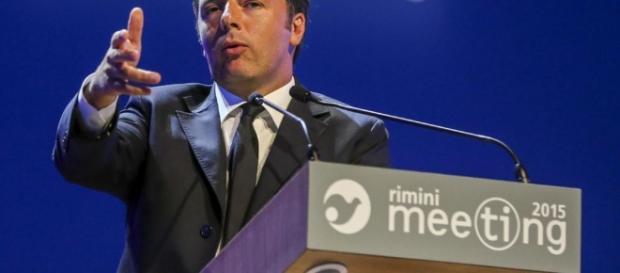 Renzi a Rimini per un meeting.