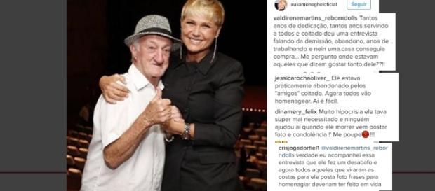 Xuxa homenageou Russo, mas foi criticada