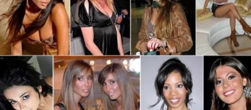 Alcune delle presunte protagoniste del bunga bunga con Berlusconi