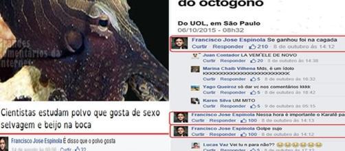 Comentários de José Espinola no Facebook