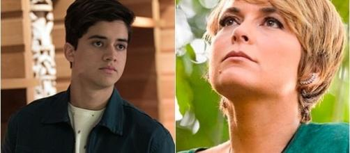 Imagem: o ator Matheus Fagundes e a atriz Cláudia Abreu em 'A Lei do Amor'