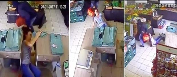 Criminoso roubou tudo o que tinha no caixa.
