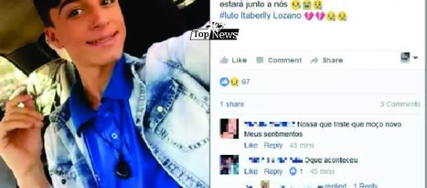 Itaberli Lozano foi homenageado por colegas no Facebook