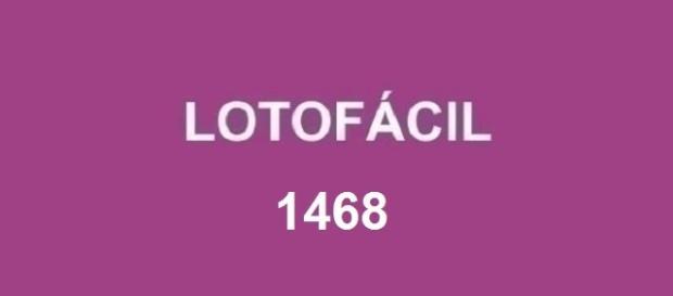 Resultado do concurso Lotofácil 1468