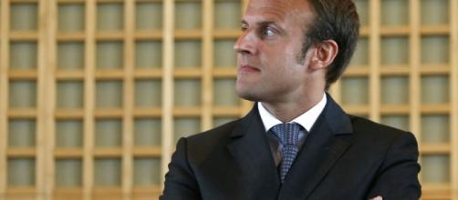 M.Emmanuel Macron candidat aux élections présidentielles françaises en 2017