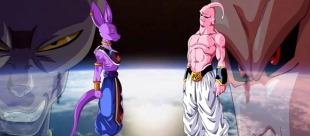 Bills y Majin Buu en un fan art