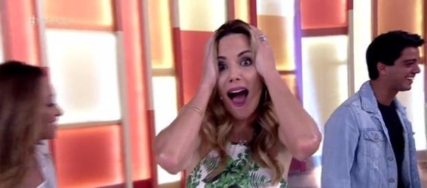 """Convidado engana apresentadores do """"Encontro"""" e paga mico (foto: reprodução TV Globo)"""