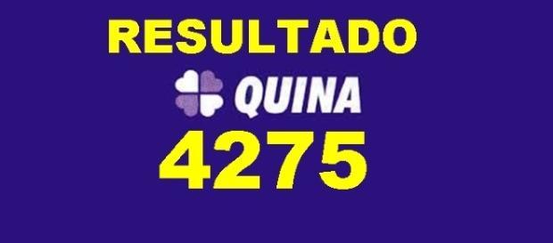 Resultado do jogo da Quina 4275