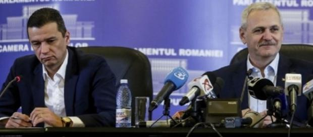 Sorin Grindeanu, noul premier desemnat. Pentru cine nu-l cunoaște, e cel din stânga, deși nu pare