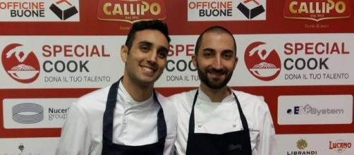 Da sinistra Carlo Andrea Pantaleo, a destra Paolo Valentino, i due finalisti dell'evento