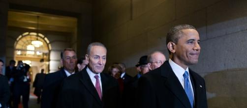 Former Pres. Barack Obama and Sen. Chuck Schumer in happier times.