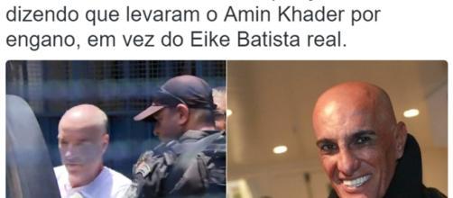 Memes e comentários engraçados sobre a prisão de Eike tomaram conta do Twitter. Screenshot: Twitter.