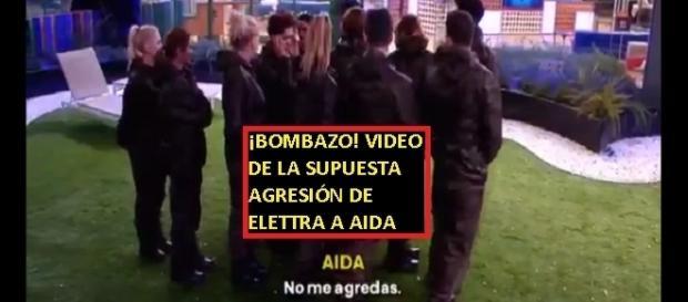 Imágenes en vídeo de lo que pasó entre Aída y Elettra y la supuesta agresión de la italiana que podría costarle la expulsión
