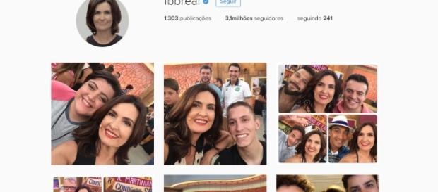 Instagram de Fátima Bernardes: colorido e com ela em todas as fotos
