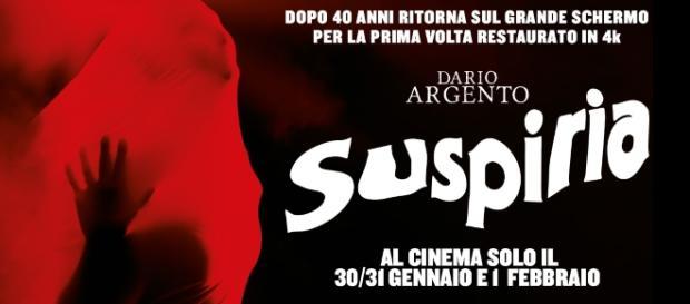 Locandina restaurata del film Suspiria di Dario Argento