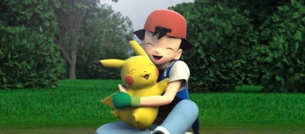 Screenshot da animação 3D de fã para a abertura clássica de Pokémon. (Fonte: Youtube)