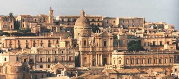 Una veduta del centro storico di Noto