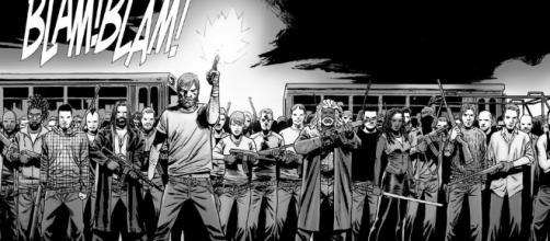 Imagem do HQ de The Walking Dead