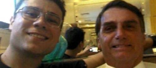 Smith Hays ao lado do deputado federal Jair Bolsonaro