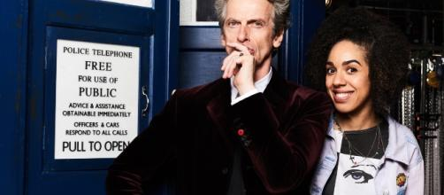 The Doctor (Peter Capaldi) and Bill (Pearl Mackie) Photo Credit: © Ray Burmiston / BBC AMERICA Used by permission