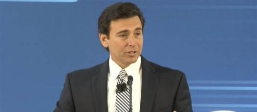 Joe Hinrichs, Ford's president addressing the media - Source: NBC